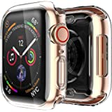 [2 pack] Funda Apple Watch 40mm Series SE 6 5 4, Protector Pantalla iWatch case Protección Completo Anti-Rasguños Ultra Trans