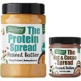 Zucchero Protein Peanut Butter, Unsweetend, Crunchy, Whey Protein(10%), 1kg (High Performance Spread)