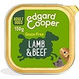 Edgard & Cooper Comida Humeda Perros Adultos Natural Sin Cereales, Latas 11x150g Cordero y Ternera Frescos, Fácil de digerir,