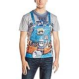 Faux Real Men's Halloween 3D Photo-Realistic Short Sleeve T-Shirt, Handyman, Large
