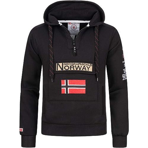 Geographical Norway Felpa da Uomo GYMCLASS A Nero