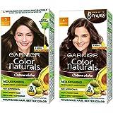 Garnier Color Naturals Crème hair color, Shade 3 Darkest Brown, 70ml + 60g & Garnier Color Naturals Crème hair color, Shade
