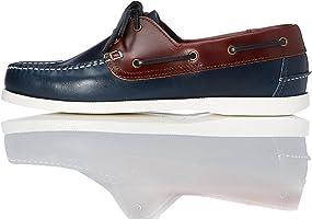 find. Iconic, Chaussures Bateau en Cuir-Homme