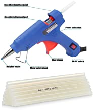 OTOVON™ 20W Blue Mini Hot Melt Glue Gun With 10 Glue Sticks, Size - 7mm x 20cm