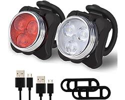 Balhvit Bike Light Set, Super Bright USB Rechargeable Bicycle Lights, IPX4 Waterproof Mountain Road Bike Lights Rechargeable