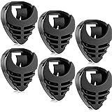 6 Pièces Porte-Médiator Stick-On Porte-Médiators pour Guitare Porte-Médiator en Plastique Noir Facile à Coller sur la Guitare