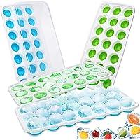 CAVN 4 PCS Bacs à Glaçons Silicone Bacs à Glaçons avec Couvercles Transparents - 84 Moules à Glaçons pour l'eau, bébés…