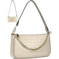 Damen Umhängetasche Kleine Schultertasche Kette Tasche PU Leder Handtaschen Clutch Geldbörse Messenger Crossbody Bag…