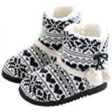 tqgold® Slippers Boots Women Ladies Indoor House Booties Cotton Fleece Lined Warm Winter Home Shoes