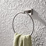 KES Baño Para lavabo Toallero aro Montaje en pared,Acero Inoxidable Cepillado, A2280-2