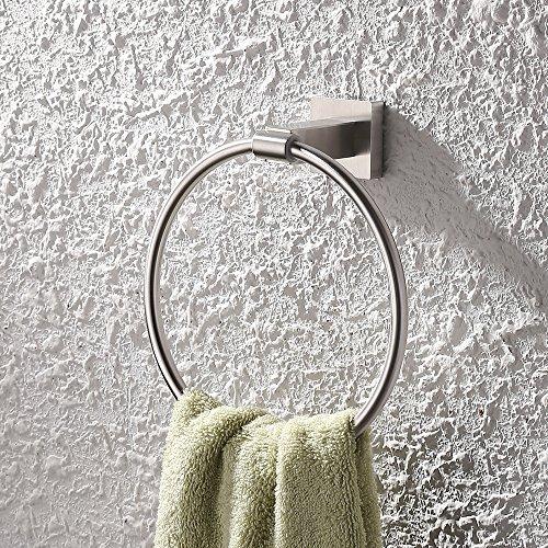 KES A2280 Handtuchhalter, Wandmontage, aus Edelstahl., silber, CECOMINOD006285 (Messing Handtuchhalter-satin)