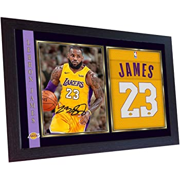 b23d6fa2b SGH SERVICES New Framed LeBron James Los Angeles Lakers NBA signed autograph  Basketball Memorabilia NBA signed autograph photo print Framed MDF frame  photo ...