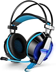Kotion Each Over the Ear Headsets with Mic & LED for PS4/PC/Smartphone - GS700 Edition (Black/Blue)