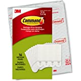 Command Picture hanging strips, Medium, Plastic,Pack of 16, White