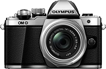 Olympus OM-D E-M10 Mark II Systemkamera (16 Megapixel, 5-Achsen VCM BildsTabilisator, elektronischer Sucher mit 2,36 Mio. OLED, Full-HD, WLAN, Metallgehäuse) Kit inkl. 14-42mm II R Objektiv silber