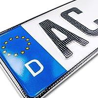 schildEVO 1 Carbon Kfz Kennzeichen   520 x 110 mm   OFFIZIELL amtliche Nummernschilder   DIN-Zertifiziert – EU…