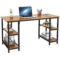 Dripex Bureau Informatique, Table d'Ordinateur avec 4 Étagères, Poste de Travail PC et Ordinateur Portable pour Bureau…