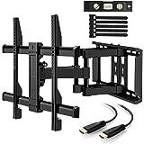TV Wandhalterung Schwenkbar Neigbar max.VESA 600x400mm für 37-70 Zoll (94-178cm) LED LCD Plasma Flach & Curved Fernseher oder Monitor bis zu 60kg