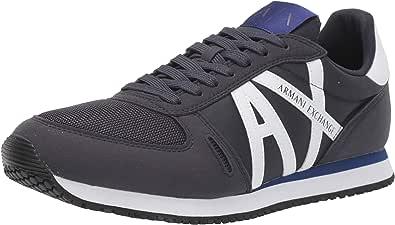 AX Armani Exchange Retro Running Sneaker, Scarpe da Ginnastica Uomo, Blu Navy e Bianco, 38.5 EU