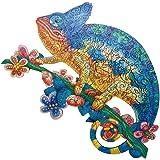 Auifor Puzzle en Bois, Meilleur Cadeau pour Adultes et Enfants - Puzzles Animaux Colorés - Pièces de Puzzle de Forme Unique -