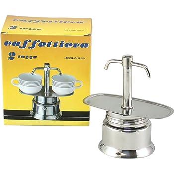 bialetti espresso kaffeemaschine mit zwei ausg ssen f r 2. Black Bedroom Furniture Sets. Home Design Ideas