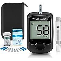 Diabetes test kit glucosio nel sangue kit di monitoraggio della glicemia con 25 strisce reattive e 50 lancette per…