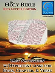 Holy Bible - Red Letter Edition (with Illustrated History of the King James Version)