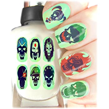 Suicide Squad Nail Art Wraps Easy To Use High Quality Nail Art