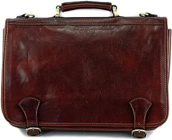 modamoda de - A006 - ital. Business Laptop Akten Tasche Leder