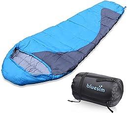 Bluesim Schlafsack, Umschlag Schlacfsack, Deckenschlafsack mit Reißverschluss Indoor und Outdoor, Wasserdichter Baumwolle Hüttenschlafsack, Ideal für Camping, Wandern, Trekkingtouren usw.