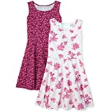 The Children's Place girls Sleeveless Printed Dresses, Pack of Two Casual Dress
