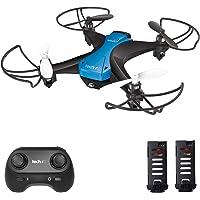 tech rc Mini Drone Facile da Pilotare con Due Batterie Funzione di Un Pulsante di Decollo/ Atterraggio ,modalità Senza Testa 3D Flip Protezioni a 360°Buon Regalo per Bambini e Principianti