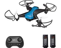 tech rc Mini Drone 20 Minutes Autonomie et Télécommande, Mini Drone Enfant avec 2 Batteries, 2.4GHz 4 Axes Gyro Mode sans Têt