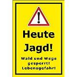 Warnschild Achtung Jagd Mit Datumsangabe 3mm Baumarkt