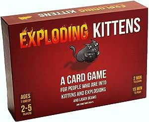 Exploding Kittens- Barbie Gioco, Colore One Colour, Taglia Unica, EKG-ORG1-1