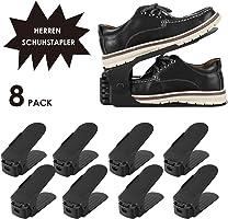 Femor Support à Chaussures Réglables, Convient aux Chaussures Grande Taille, 3 Niveaux de Hauteur Réglable, Organiseur de Chaussures, Economie d'Espace à Chaussures Support Rack Plastique