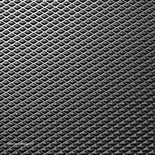 strapazierf/ähig Medaille Stil 4/m x 1,5/m Rolle Gummibodenbelag