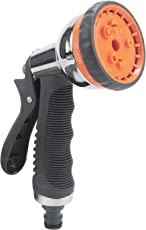 HOKIPO® 8 Pattern High Pressure Garden Hose Nozzle Water Spray Gun