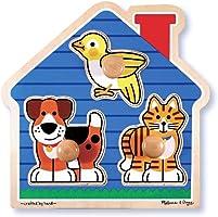 Melissa & Doug 12055 Ahşap İlk Yapbozum, Evcil Hayvanlar