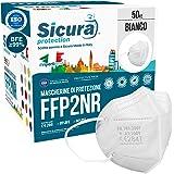 50 Mascherine FFP2 Certificate CE Made in Italy SICURA BFE ≥99% Mascherina Produzione italiana e Sanificata. Pluricertificata
