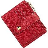 BTNEEU Porta Carte di Credito in Pelle RFID Blocco Portafoglio Sottile con Portamonete, Porta Carte di Credito con Cerniera,