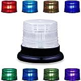 Gyrophare LED stroboscope, Lumière Stroboscopique de Rotation de Secours Réglable d'Appow 8 Couleurs avec à Distance,