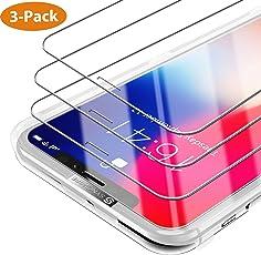 iPhone X / Xs Panzerglas [3 Stück] Syncwire - [Design Komplett zu Face ID Geschützt] HD Panzerglasfolie 9H Härte Displayschutzfolie für iPhone X / Xs (Bruchsicher, Blasenfrei, 3D-Touch, mit Hülle Verwendbar, Leicht Anzubringen)