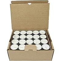 Coraz Home Lot de 80 bougies chauffe-plat naturelles non parfumées 100 % cire de colza sans paraffine Durée de…