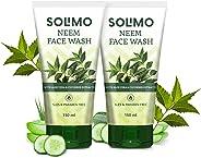 Amazon Brand - Solimo Neem Facewash, 150ml (Pack of 2)
