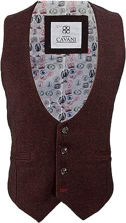 Cavani Mens Draco Tweed Blazer Waistcoat Trousers 3 Piece Suit Sold Separately