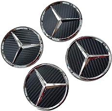Myhonour 4X Felgendeckel Nabenkappen mit BMW/Volkswagen/Mercedes Benz Logo (1)
