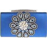 KAXIDY Luxus Damentasche Clutch Handtasche Abendtasche Satin Brauttasche mit Strass