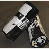 PLAID COPERTA ORIGINALE UFFICIALE JUVENTUS BIANCO / NERO MISURA 130 x 160 TESSUTO 100% POLIESTERE