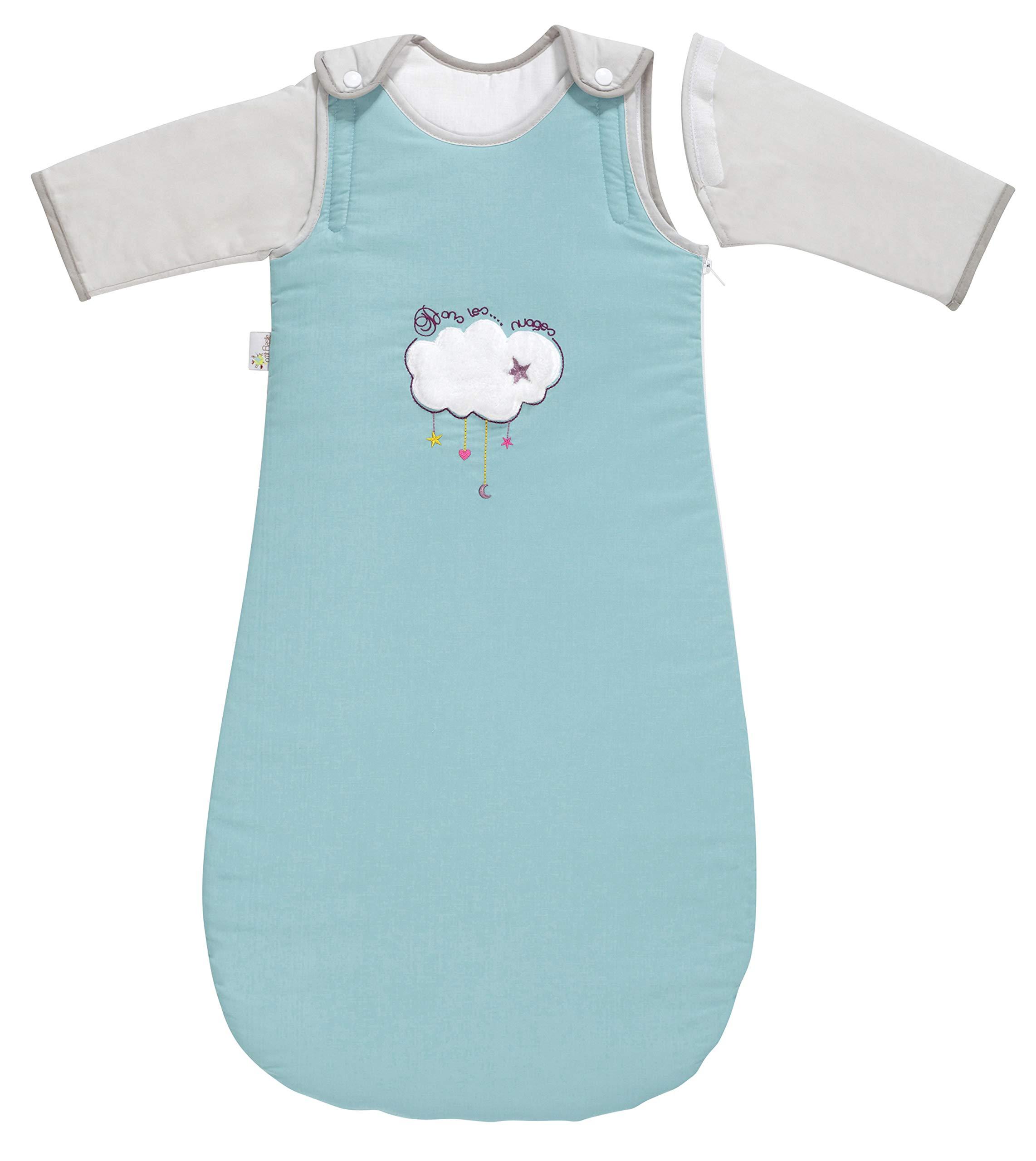 P 'tit Basile – Saco de dormir de invierno para bebé niño, 6-24 meses – 90 cm – con mangas largas extraibles removibles desmontables, algodón orgánico, TOG 2,5 Sirius
